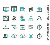 seo icon set   color | Shutterstock .eps vector #157766861