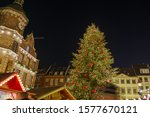 night view of christmas tree... | Shutterstock . vector #1577670121