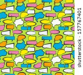 seamless pattern with speech... | Shutterstock .eps vector #157767401