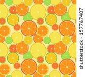color citrus pattern. seamless...   Shutterstock .eps vector #157767407