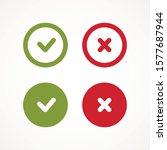 tick and cross signs. green... | Shutterstock .eps vector #1577687944