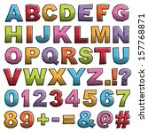 cut out alphabet shapes with... | Shutterstock .eps vector #157768871