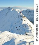 Lone Climber On Striding Edge ...
