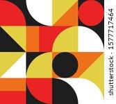 abstract seamless bauhaus... | Shutterstock .eps vector #1577717464