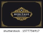 Luxury Ornament Vintage Logo...