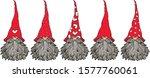 vector  cute gnomes cartoons  ... | Shutterstock .eps vector #1577760061