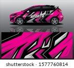 sport car decal wrap design...   Shutterstock .eps vector #1577760814