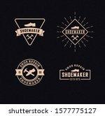 set of color cobbler logos.... | Shutterstock .eps vector #1577775127