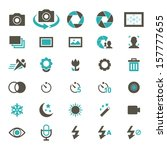 camera icon set   color | Shutterstock .eps vector #157777655
