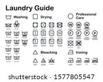 laundry guide. care symbols.... | Shutterstock .eps vector #1577805547