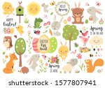 spring and easter collection of ... | Shutterstock .eps vector #1577807941