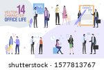 business company office workers ... | Shutterstock .eps vector #1577813767
