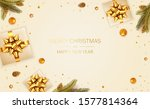 christmas balls  holiday gifts... | Shutterstock .eps vector #1577814364