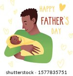 happy father's day card. cute... | Shutterstock .eps vector #1577835751