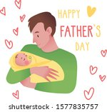 happy father's day card. cute... | Shutterstock .eps vector #1577835757