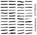 set of various black paint... | Shutterstock .eps vector #157785431
