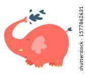 elephant cute cartoon character ... | Shutterstock .eps vector #1577862631