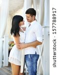 beautiful young romantic couple ... | Shutterstock . vector #157788917