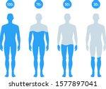 water percentage in human body...   Shutterstock .eps vector #1577897041