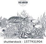 vector monochrome seamless... | Shutterstock .eps vector #1577931904