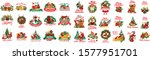 merry christmas happy holidays... | Shutterstock .eps vector #1577951701