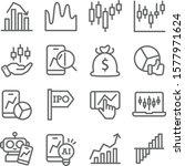 stock market icons set vector... | Shutterstock .eps vector #1577971624