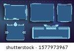 futuristic user menu interface. ...
