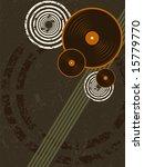 grunge music record background | Shutterstock . vector #15779770