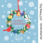 paper greeting christmas card... | Shutterstock .eps vector #1577996701