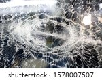 background of broken front car  ... | Shutterstock . vector #1578007507