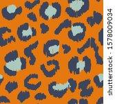 leopard skin. animal print.... | Shutterstock .eps vector #1578009034