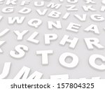 letters of the english alphabet.... | Shutterstock . vector #157804325