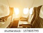 Empty Aircraft Seats And Windows