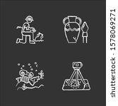 archeology chalk icons set.... | Shutterstock .eps vector #1578069271