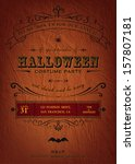 halloween party invitation. | Shutterstock .eps vector #157807181