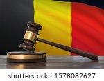 justice in belgium. wooden... | Shutterstock . vector #1578082627