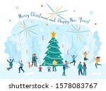 merry christmas and happy new... | Shutterstock .eps vector #1578083767
