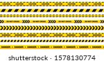 caution tape set of yellow... | Shutterstock .eps vector #1578130774