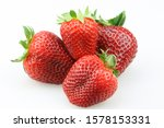 Red And Fresh Strawberry...