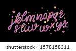 alphabet set of iridescence... | Shutterstock .eps vector #1578158311
