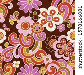 seamless vector pattern with... | Shutterstock .eps vector #1578166081