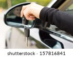 woman holding the ignition keys ... | Shutterstock . vector #157816841