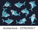 Shark. Cartoon Ocean Fish...