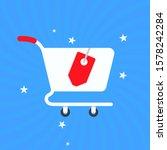shopping cart illustration.... | Shutterstock .eps vector #1578242284