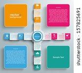 infographic design white... | Shutterstock .eps vector #157825691