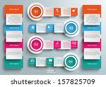 connected rectangles on the... | Shutterstock .eps vector #157825709