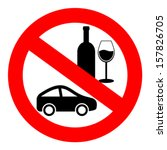 no drink and drive vector sign | Shutterstock .eps vector #157826705
