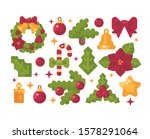 christmas items collection.... | Shutterstock .eps vector #1578291064