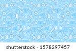 Hanukkah Blue Background With...