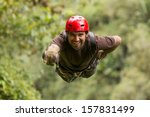 zip line adventure in... | Shutterstock . vector #157831499